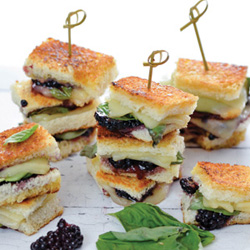 GRILLED BLACKBERRY, BASIL,