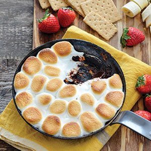 SKILLET S'MORES DIP WITH DIPPING TREATS